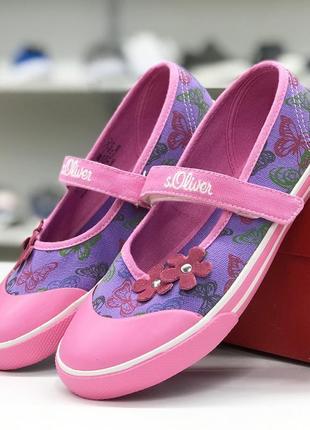 Легкие текстильные туфли s.oliver