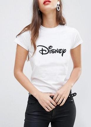 Белая футболка disney 100% коттон испания размеры