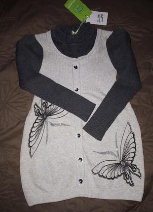 Туника платье свитер many&many 120см