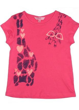 Новая розовая футболка жираф для девочки, ovs kids, 6739001