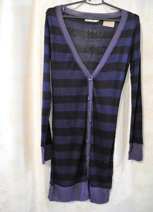 Стильное легкое платье-кардиган с пуговицами ichi, размер s
