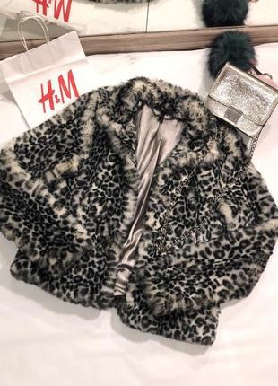 Леопардовая шуба h&m леопардовое пальто h&m