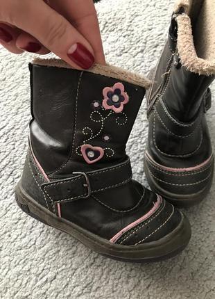 Кожаные ботиночки 22р