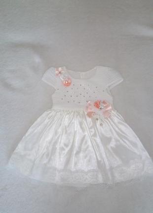 Нарядное платье на девочку до года