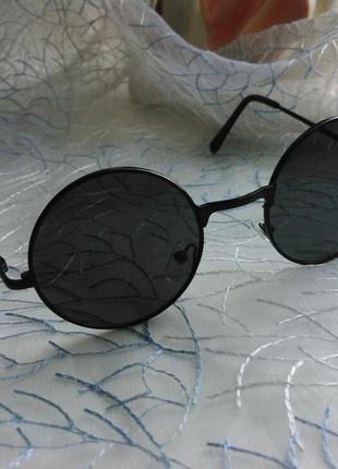 Окуляри круглі чорні (очки)