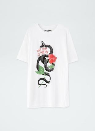 Новая летняя футболка pull&bear оригинал, pull and bear