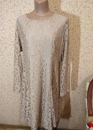 Гипюровое платье 50-52 размер англия
