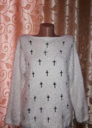 Стильная теплая кофта травка, джемпер, свитер, свитшот pink boutique