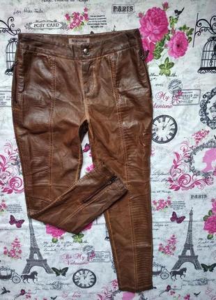 Кожаные штаны с тиснением mouvance