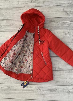 Весенняя куртка на девочку, размеры от 8 до 12 лет