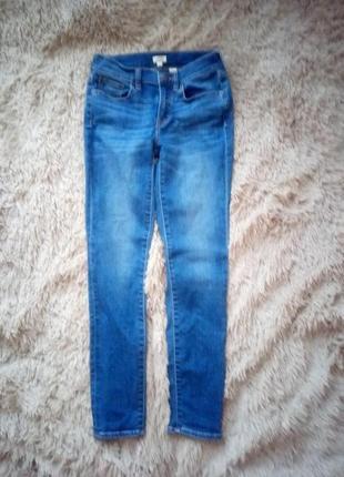 Стильные брендовые укороченные базовые джинсы скини оригинал j.crew