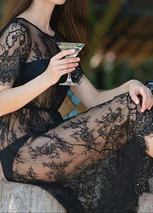 Кружевное платье/прозрачный пеньюар /сексуальное белье/ эротическое белье