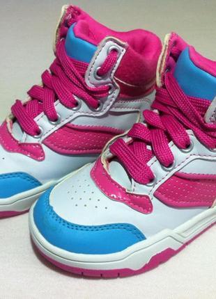 Стильные кроссовки сникерсы, хай-топы marks & spencer 👟 размер 25,5 ( uk8 ) оригинал !!!