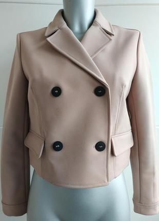 Стильная куртка zara пыльно-розового цвета