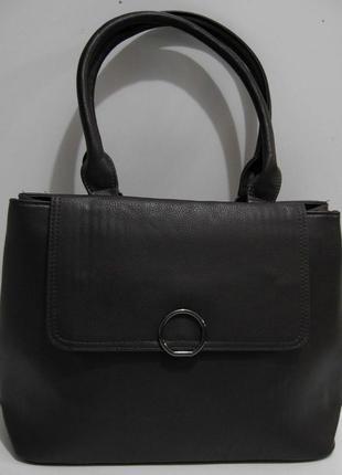 Женская сумка с клапаном (шоколадная) 19-02-038