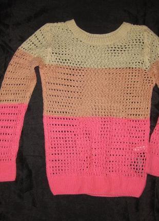 9-11 лет, ажурный свитер от h&m