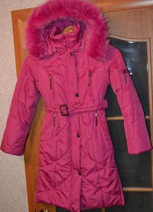 Пальто зима д/девочки 7-9 лет
