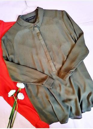Стильна рубашка-блуза оверсайз кольору хакі