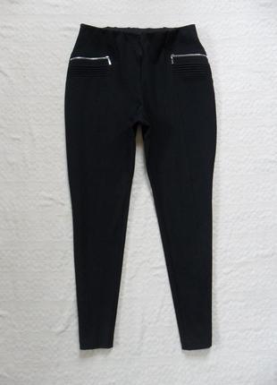 Стильные черные штаны скинни с высокой талией canda, 14 размер.