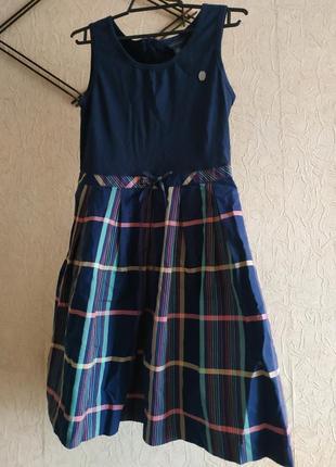 Платье темно синий цвет 12-14лет