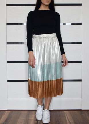 Плиссированная юбка (новая, с биркой) zara