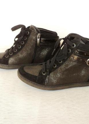 """Фирменные кожаные ботиночки от """"footnotes"""", р 37,5"""