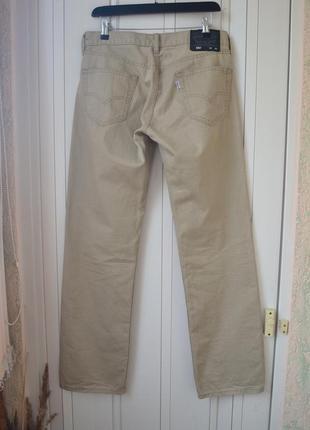 Бежевые джинсы w30 l322 фото
