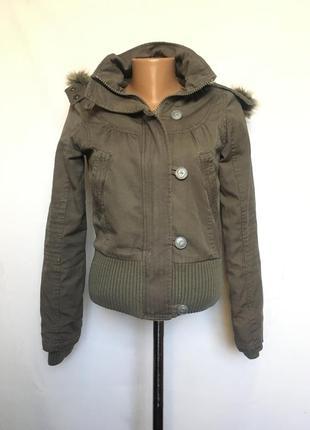 Куртка с мех воротником