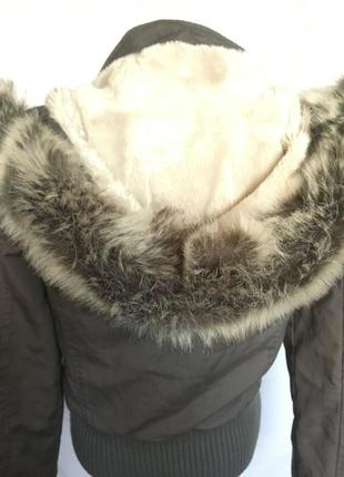 Куртка с мех воротником3 фото