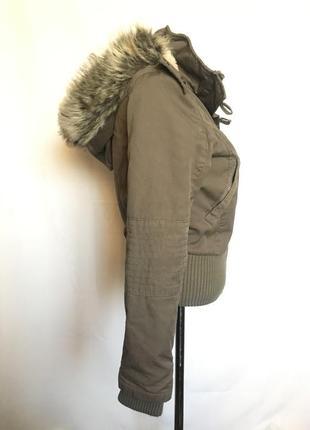 Куртка с мех воротником5 фото