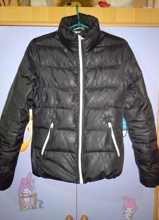 Куртка демисезонная весенняя короткая на пуху  без капюшона