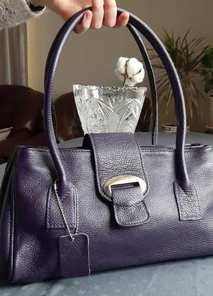 Кожаная красивая фиолетовая сумка в новом состоянии borse in pelle италия 69a4f03f1fc58