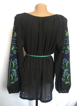 Вышитая блуза вышиванка сорочка 50-52 р2 фото