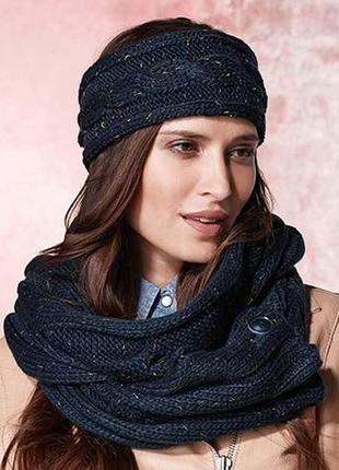 Шикарный объемный новый шарф хомут от tchibo.