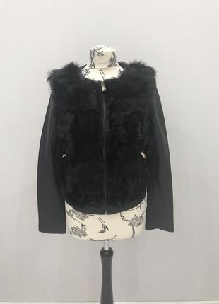 Куртка из кожи с овчиной zara