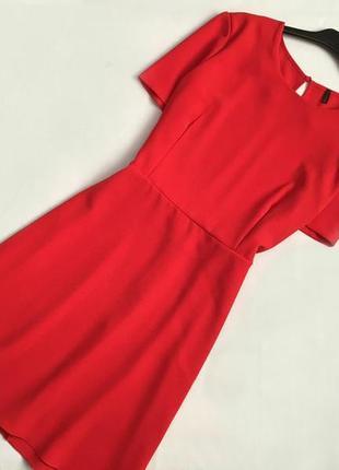 Красное платье benetton классическое платье а-силуэт платье купить цена