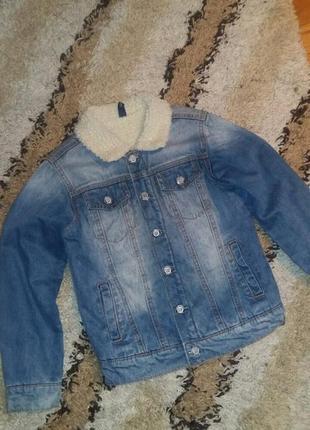 Р.128 idexe (оригинал) утепленная джинсовка, куртка.
