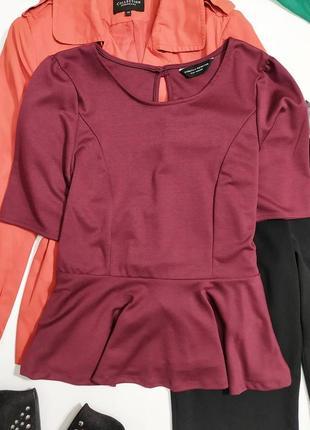 ❤ плотная блузочка с баской