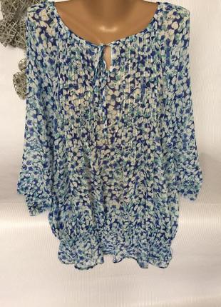Шикарная  нежная блуза шифон