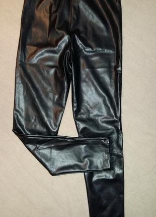 Janina, кожаные лосины штаны