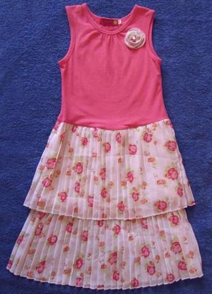 Нарядное платье на 7-8 лет плиссе juniors (филиппины)