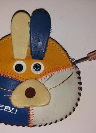 Милый детский кошелечек зайка с ушками, отличный подарок !)
