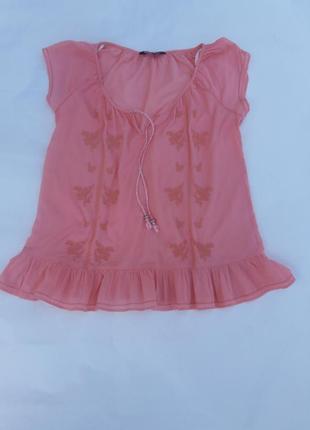 Батистовая блуза вышиванка m-l