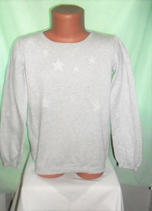Тонкий свитер в звезду на 5-6лет