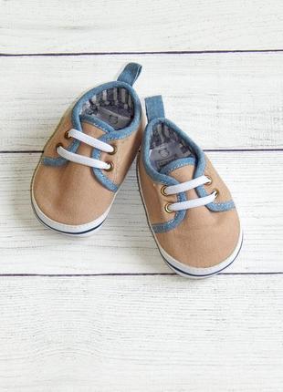 Новые пинетки-кеды-кроссовки primark, для мальчика 3-6 месяцев.