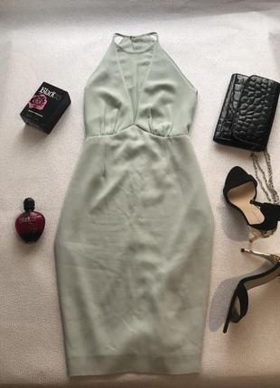 Нарядное платье в мятном тоне