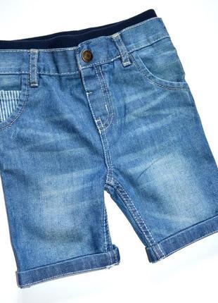 Rebel. удлинённые джинсовые  шорты на мальчика .  18-24 мес. рост 92 см.