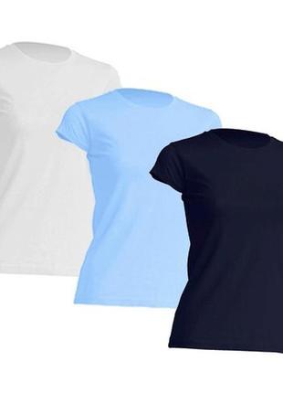 Комплект однотонных базовых женских футболок 100% хлопок испания размеры