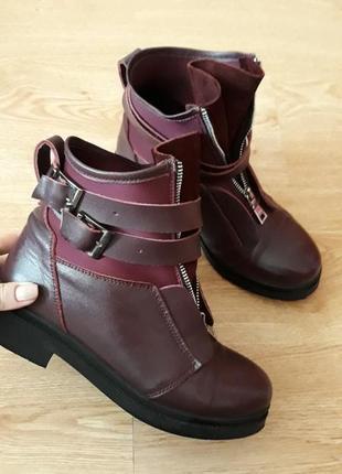 Женские ботинки кожа/замша 38 рр