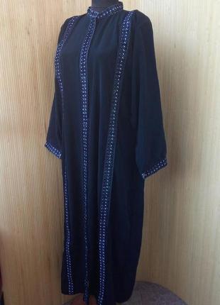 Длинное черное платье / для кормящих l/xl